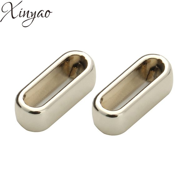 XINYAO 40pcs Large Hole Slider Spacer Beads For 10*2.5mm Leather Cord Necklace Gold Color Charms Beads Jewelry Making F5356