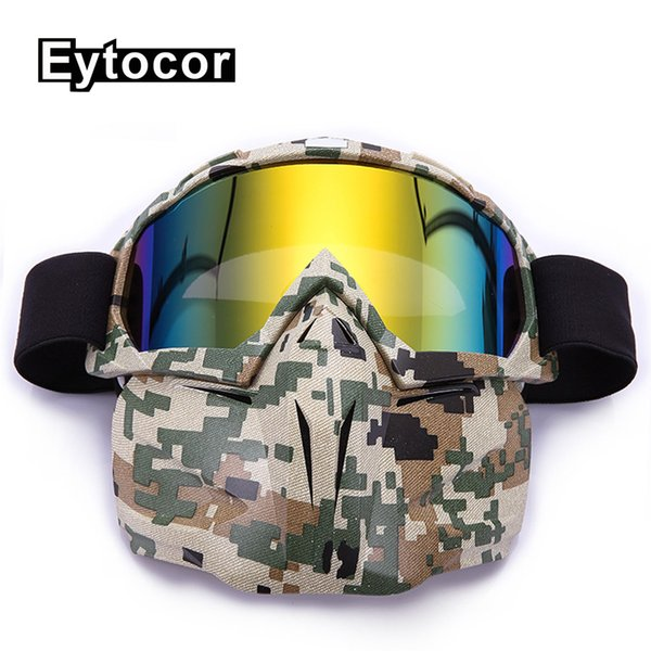 EYTOCOR Profession Windproof UV400 Motocross Goggles Mask Racing Off Road Motocross Helmet Goggles Motorbike Dirt Bike ATV Mask