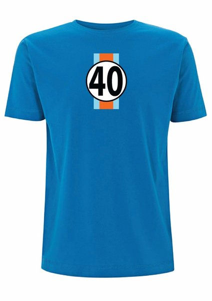 Gulf GT40 T shirt Le mans 24 hour Mcqueen Race Car Movie Sport F1 classic ford