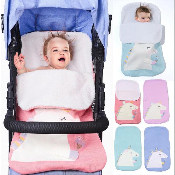 super popular 787f8 a5c0d Baby Unicorn Sleeping Bag Newborn Baby Sleeping Bag Soft Knit Thicken  Infant Sleep Sack Stroller Wrap Swaddle Baby Stroller Blankets 223 6 Kids  ...