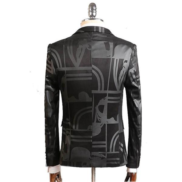 2018 2016 New Arrival High Quality Printed Single Button Black Blazer Men  Casual Jacket Men Slim Blazer Jackets Size M 4xl From Finebeautyone,  $147 92