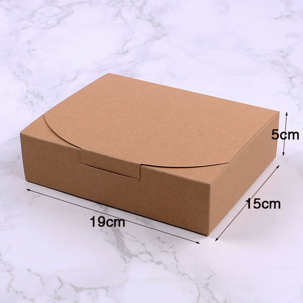 19*15*5cm Kraft Paper Cake Boxes For Biscuit Cookie Wedding Party Candy Gift Box Pastry Packaging Box QW8160