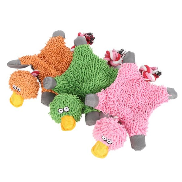 Lovely 32*19cm Pet Supply Cute Papa Duck Plush Dog Toy With Rope Dog Toys Dog Toys Chews