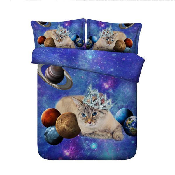 3D cat dog duvet Cover sets bedding set Bedspread Holiday Quilt Covers Bed Linen children kids boys girl comforter cover galaxy pillow shams