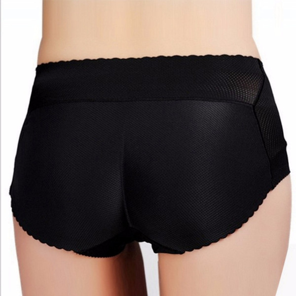 edd0d30b3e1 Women Sponge Padded Abundant Buttocks Pants Lady Push Up Middle Waist  Control Panties Butt Lifter Briefs