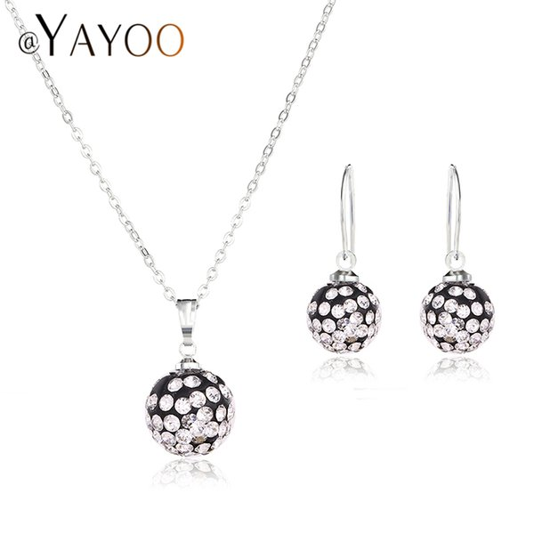 AYAYOO Wedding Fashion African Beads Jewelry Set Bridal Women Dubai Jewelry Sets For Vintage Costume
