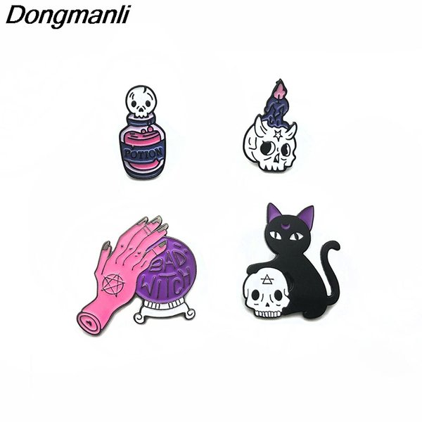 2019 P2806 Dongmanli Magic Crystal Ball Black Cat Enamel Pins And Brooches  For Women Men Lapel Pin Backpack Bags Badge Jacket From Splendone, $32 86 |