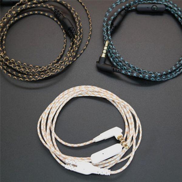 1.2m Biege-Art 3.5mm Polen-Kopfhörer-Kabel für Reparatur-Ersatz-Audiokabel-Kopfhörer DIY-Draht