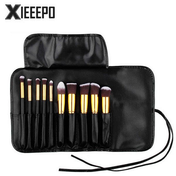 Casual Women Travel Cosmetic Bag PU Leather Professional Makeup Kit Bag Organizer Holder Make Up Pouch Toiletry Wash Brush
