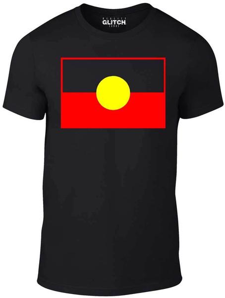Aborígene australiano T Shirt-International T-Shirt Bandeira Do Esporte Aborígenes Engraçado frete grátis Unisex Casual tee presente