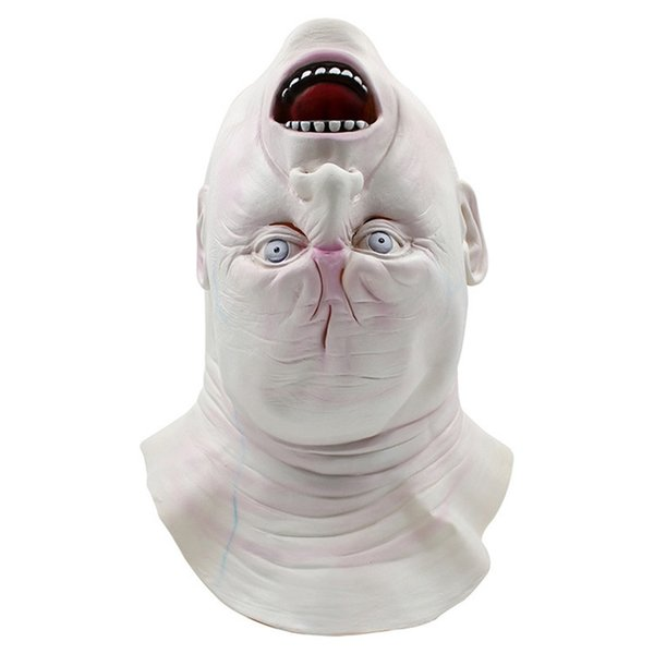 Halloween calvo horror aterrador fantasma máscara peluca peluca mascarada bar club nocturno juego de juguete de regalo ordenado