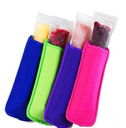 wholesale 600pcs Neoprene Ice Popsicle Sleeve Pop Holders, Ice Lolly, Ice Block 4 Color Free shipping