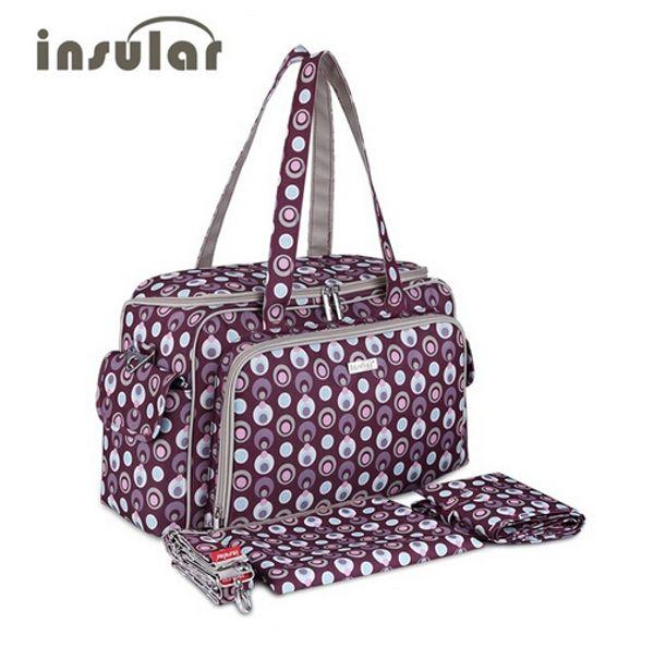INSULAR Fashion Baby Bag For  Tote Diaper Bags Maternity Handbag Nappy Bags Large Changing Bag Mummy Handbag