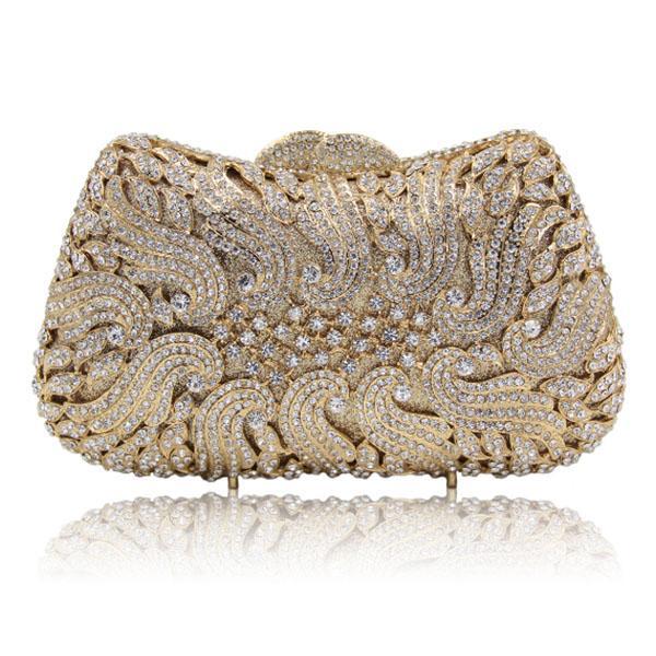 Top Design Gold Kristall Abendtasche Luxus Clutch Geldbörse für Hochzeit Geldbörse Prom Handtasche Bankett Tasche Tag Kupplungen Dame Geschenk