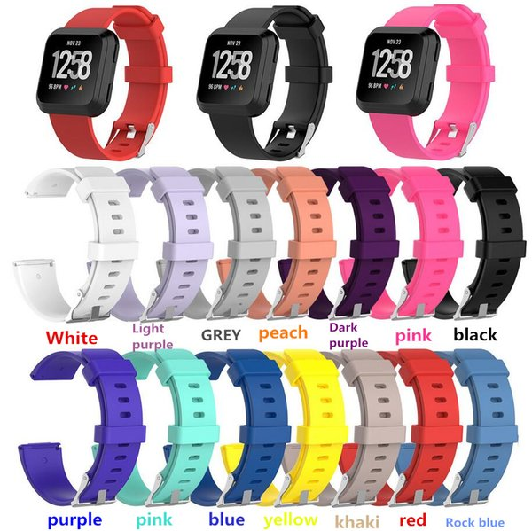 Soft Silicone Replacement Watch Bands Wristband Bracelet Band Wearable Belt Strap For Fitbit Versa Smart Watchbands
