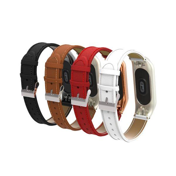 newest link Bracelet for Xiaomi Mi Band 3 wristband for xiaomi mi band3 strap Miband3 Leather band