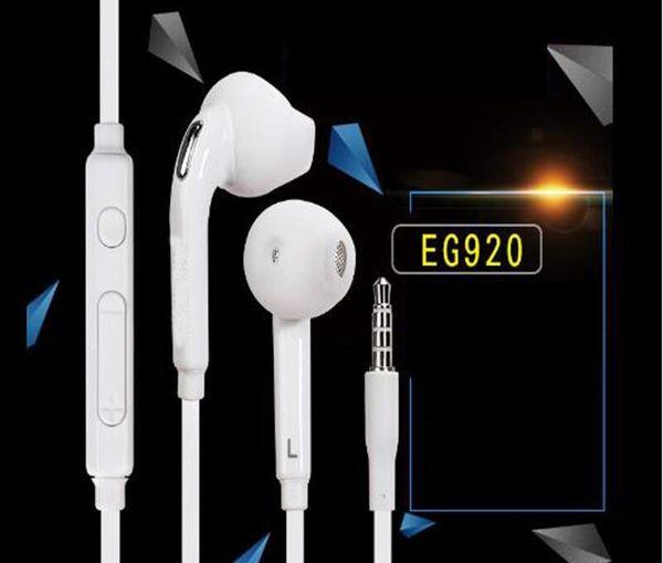 100% nuevo en la oreja los auriculares auriculares estéreo de auriculares con cable de alambre remoto Mic auriculares para samsung galaxy S6 G9200 S6 borde 50pcs hasta