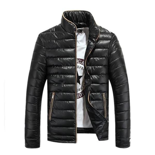 Новая зимняя мужская куртка уличный стенд воротник мужская куртка мужская модная теплая одежда Slim Fit ветровка мужская верхняя одежда парки