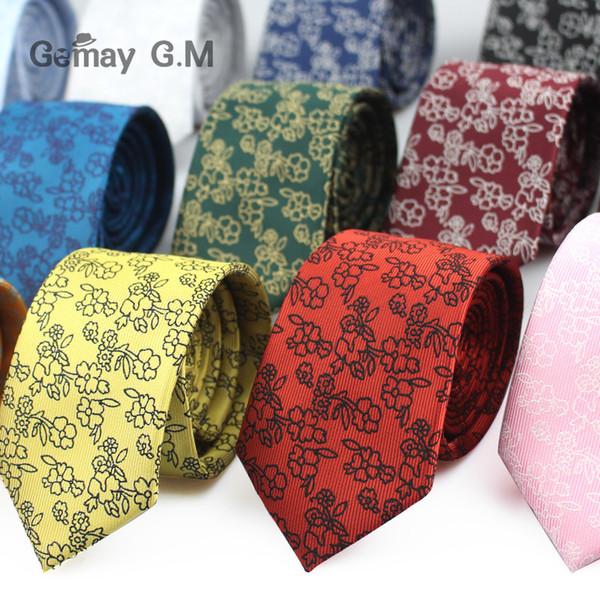 Fashion Floral Mens Ties Klassische Jacquard Krawatten für Männer Gravata Slim für Hochzeit Business Anzüge Krawatten Corbatas