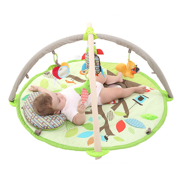 Cute Infant Round Forest Crawling Mat Thickening 2cm Baby Game Blanket Climbing Mat Toy Material Plush