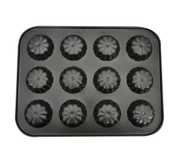 (10pcs)Small Cupcake Pan / 12-Cup Muffin Pan , Nonstick Carbon Steel Muffin Mold Pan, Cupcake Baking Pans / Muffin Trays