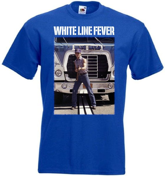 Custom T Shirt Printing White Line Fever V3 T-Shirt Blue Poster All Sizes S To 3XL Short Sleeve Men Fashion 2018 Crew Neck Tees