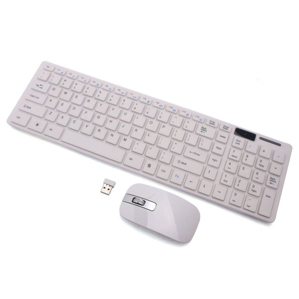Universal Wireless Keyboard Film Kit Set PC Desktop Laptop Keyboard + Mouse for Universal PC iPad EM88