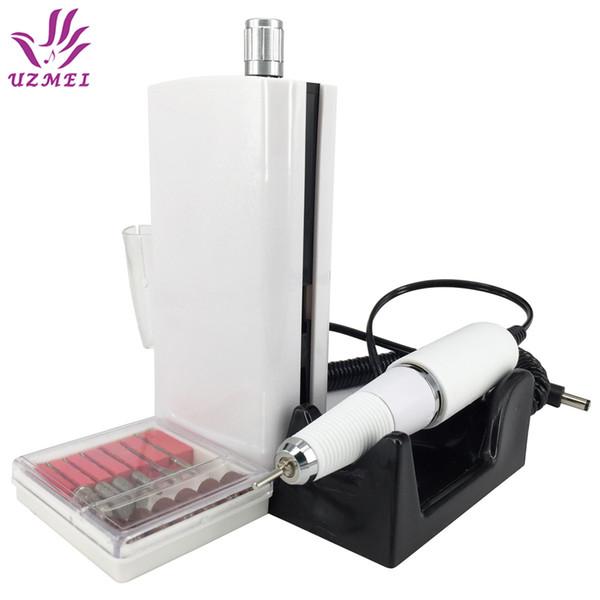 Новое поступление 30000rpm портативный электрический ногтей Сверлильный станок аккумуляторная беспроводной маникюр педикюр набор ногтей полировка машина