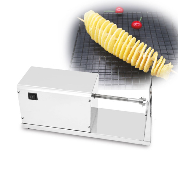Commercial Electric Potato Chips Slicer Stainless Steel Twisted Potato Slicer Cutter Carrot Spiral Cutting Machine Vegetable Cutter