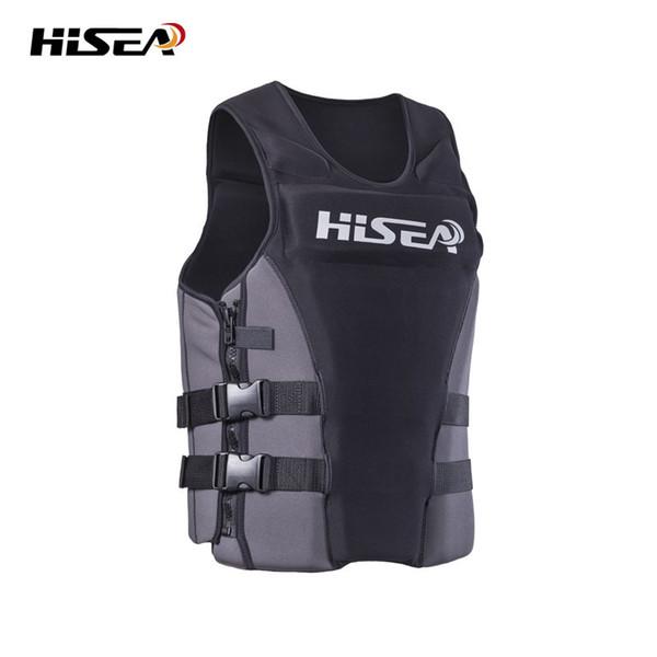 top popular HISEA 45KG-85KG Adult Buoyancy Life Jacket Profession Adjustable Life Vest for Swimming Fishing Surfing Kayak Life Jackets F 2019