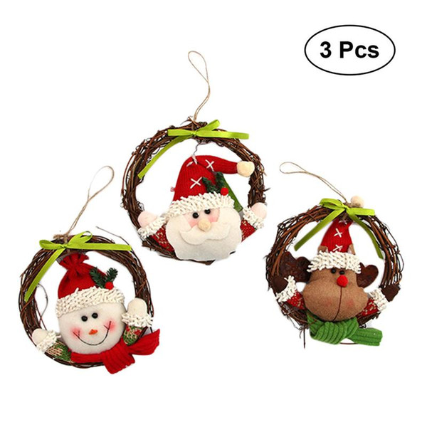 2019 14cm Christmas Garland Cute Rattan Cartoon Hanging Pendants Wreath For Window Christmas Tree Door Home Wall From Tengdinggarden 19 0