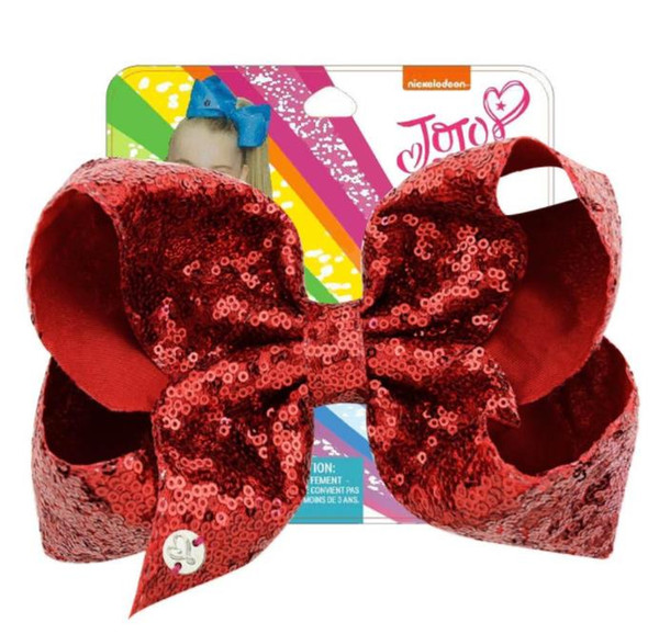 8inch LARGE baby Hair Clip Bows Hair Bow with card girls Hairpins kids Hair Accessory Toddler Headwear wholesale price