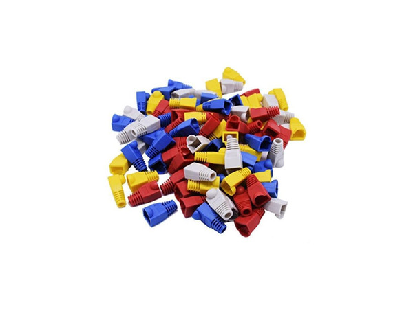100 Pcs Mixed Color CAT5E CAT6 RJ45 Ethernet Network Cable Strain Relief Boots