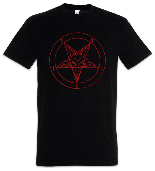 BAPHOMET PENTAGRAM SIGN T-SHIRT - Aleister Crowley Pentagramm Satanic Circle 666 Cool Casual pride t shirt men Unisex