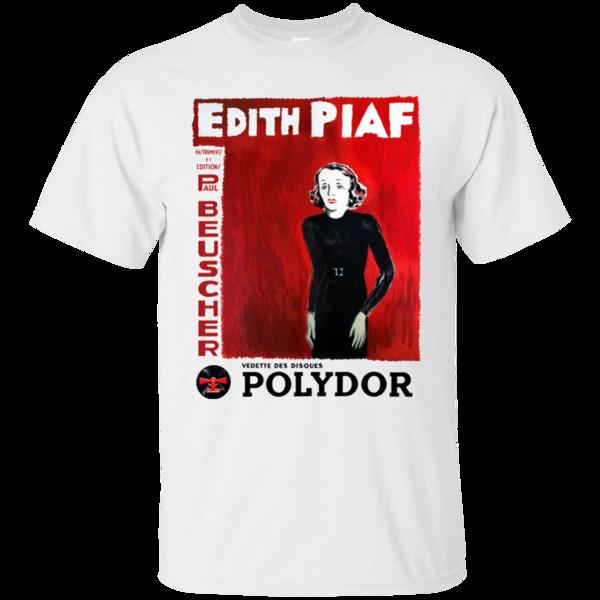 Edith Piaf, Chanteuse, Retro, Parisiense, França, Francês, Cantor, Romântico, T-Shir Legal Casual t shirt do orgulho dos homens Unisex