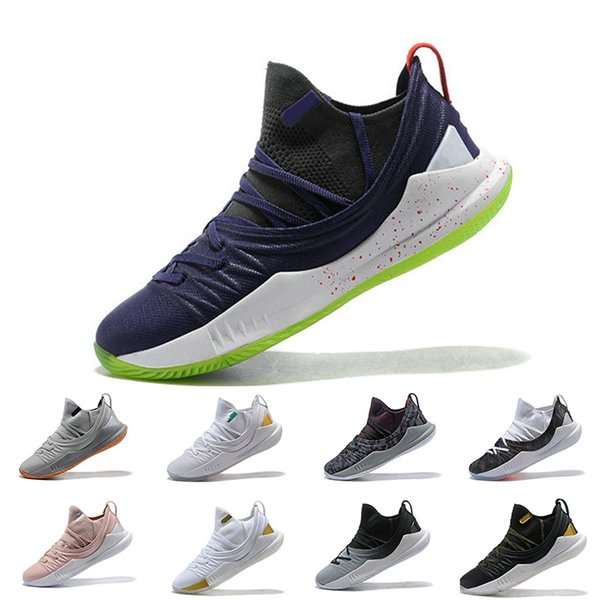 Stephen Curry 5 Basketball Shoes stephen Mens Curry 5 Gold/Championship MVP Pi Day Fired Up Championship Finals Sports training Sneakers