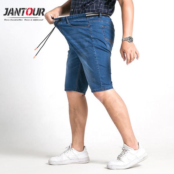 Jeans Herren Hose Neu Lange Freizeit Große Größe Fett Blau