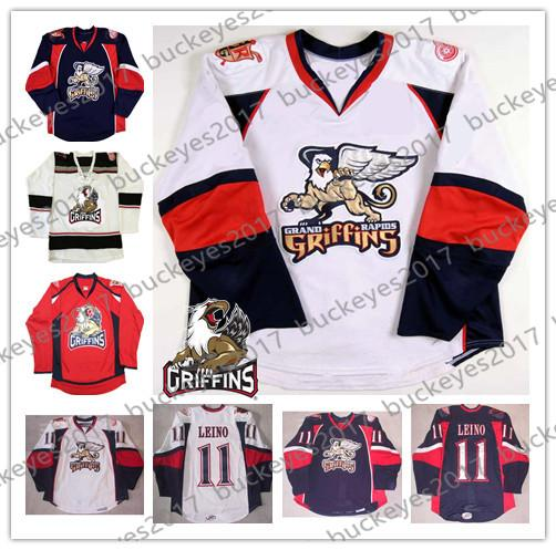 3c833147851 Custom Grand Rapids Griffins Any Number Any Name Red Navy Blue White  Vintage  10 Ben