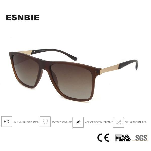 Gafas de sol cuadradas Hombres polarizados Deporte Hombre Gafas de sol Oversize Oculos masculino Polarizado Uv400 Gafas de sol Gafas masculinas