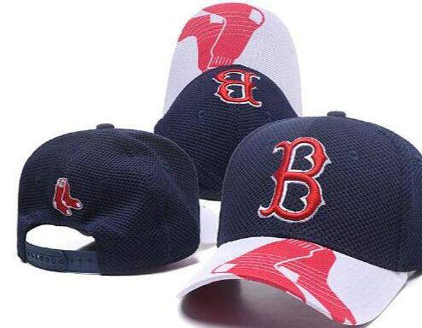 Sports sunhat headwear Peak Curved Brim Flat B Logo SOX Snapback Boston Cap Adjustable All Team Baseball Ball snapbacks High Quality hat