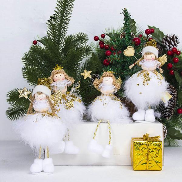Noël ange poupée jouet décorations de noël pour la maison décorations pour arbres de noël noël enfants nouvel an cadeaux décoration de table