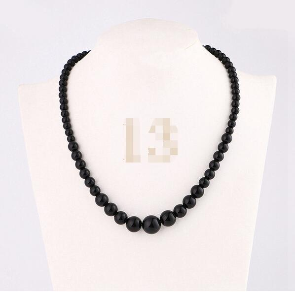 Women Necklace Natural Crystal Power Stone Agate Beads Chain Reiki Charm Gemstone Female Choker Male Men Fine Jewelry Bag