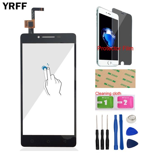 YRFF 5.0'' Mobile Phone For Lenovo A6000 K3 Note K30-W K30-T Front Touch Screen Glass Digitizer Panel Tools + Protector Film