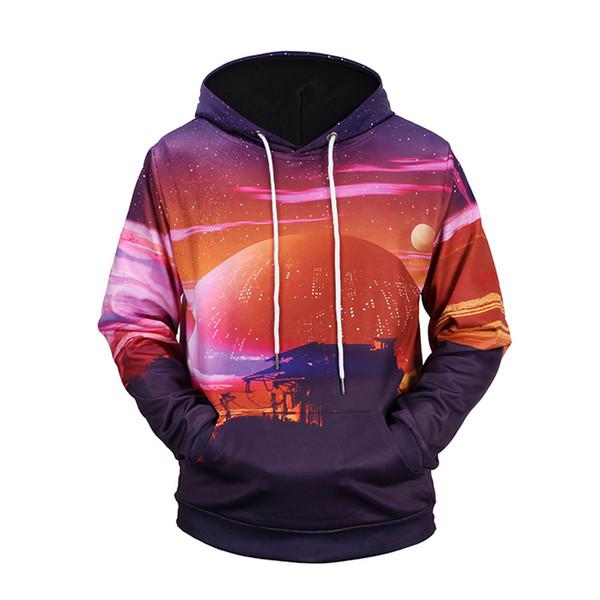 FeiTong Sweatshirts For Men Brand Mens Hoodies Streetwear Autumn Winter 3D Print Long Sleeve Hoodie Sweatshirt Hoodies Male