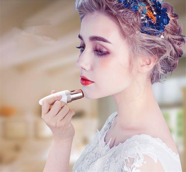Más nueva mujer Mini depiladora eléctrica forma de lápiz labial Shave Shaver Lady Hair Remover para mujeres cara del cuerpo