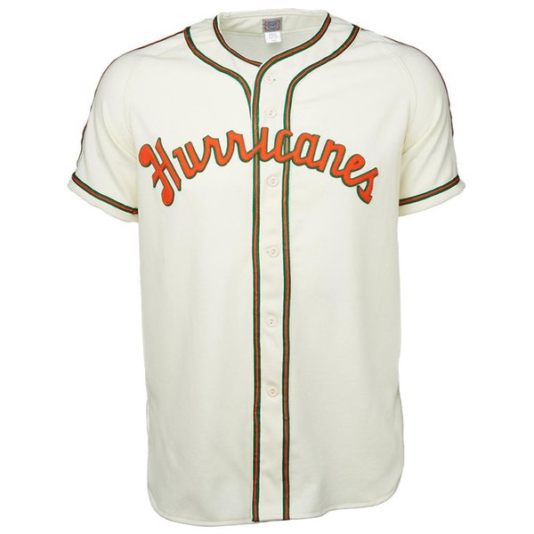 buy online 39b94 726ad 2019 UM Miami Hurricanes University Of Miami 1947 Home Jersey Double  Stiched Baseball Jersey For Men Women Youth Customizable From Felixtrade,  $28.43 ...