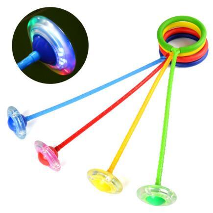 Yaratıcı Renkli çocuk LED Flaş Atlama Halkası Dans Topu Parlayan Spor Eğitici Oyuncaklar Komik Oyun Açık Spor CCA10200 50 adet