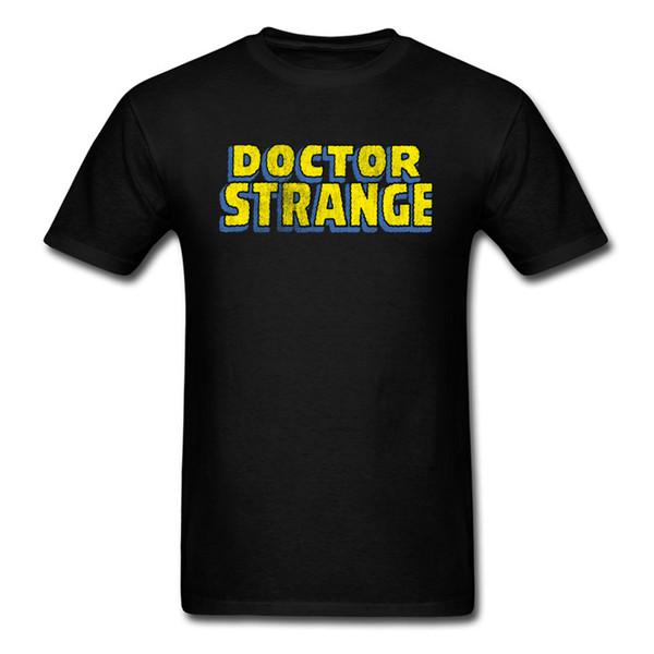 Dr Strange T Shirt Printing Leisure Fashion Summer Men's Tee Shirt On Sale Funny Design Yellow Logo T-Shirt For Men Hot Sale 100% Cotton