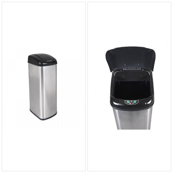 2019 New 13 Gallon Touch Free Sensor Automatic Stainless Steel Trash Can  Kitchen 13G From Hongxinlin21, $40.2 | DHgate.Com
