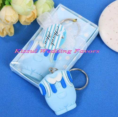 (100 Pieces/lot) Amazing Baby shower decoration Favors of dress key chain favor for baby birthday gift and baby souvenirs